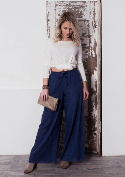How to style wide leg trousers