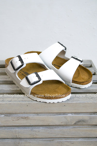 Arizona White Birkenstocks - Siloe