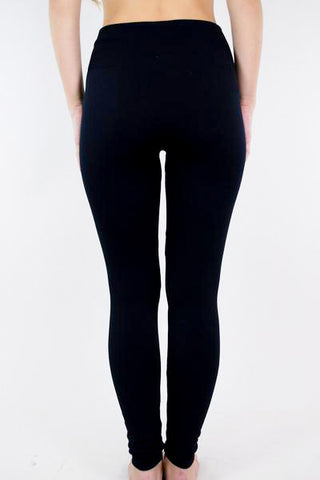 High Waist Fleece Leggings - Siloe