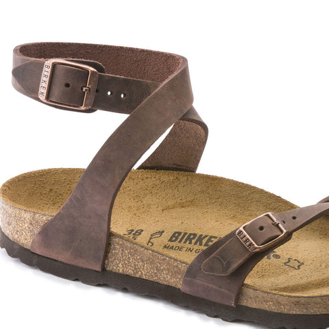 Habana Waxy Leather Birkenstocks | Brown - Siloe