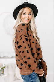 All About It Spotted Soft Knit Sweater