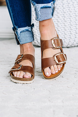 Arizona Big Buckle Birkenstocks | Cognac