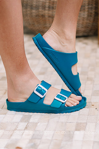 Arizona EVA Birkenstocks | Aqua