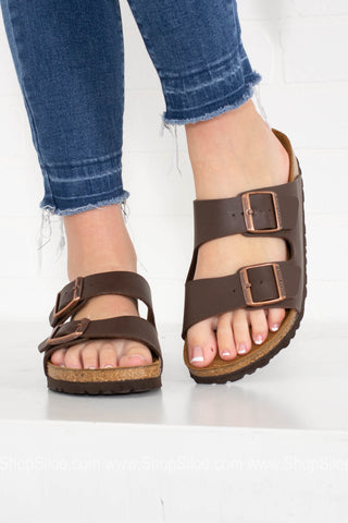 Arizona BS Birko-Flor Birkenstocks | Dark Brown - Siloe
