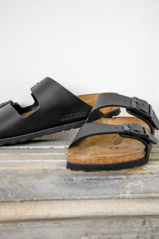 Arizona Birko-Flor Birkenstocks | Black - Siloe