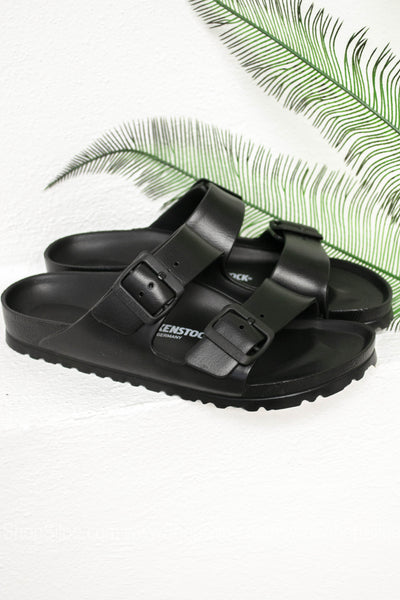 Arizona EVA Birkenstocks | Black | Narrow - Siloe