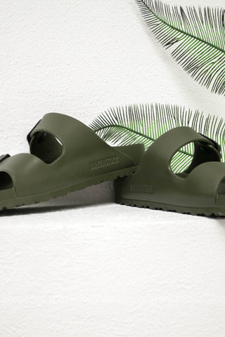 Arizona EVA Birkenstocks | Khaki | Narrow - Siloe