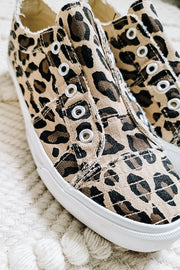 Babalu Canvas Sneakers | Cheetah Print