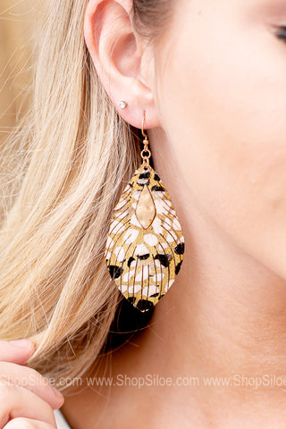 Bevin Metallic Feather Earring