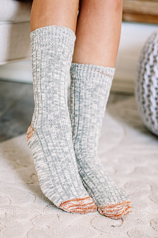 Birkenstock Socks Cotton Structure | Slub Grey