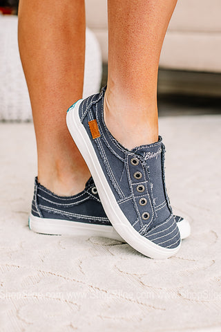 Blue Oasis Smoked Canvas Sneakers