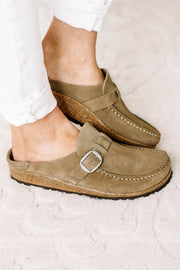 Buckley Suede Leather | Grey Taupe | Narrow