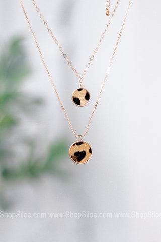 Caboom Double Layer Necklace | Brown
