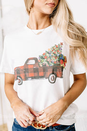 Christmas Tree Truck Graphic Tee | True White