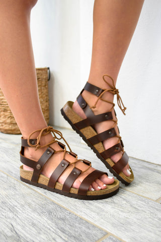 Cleo Cognac Leather Sandal | Papillio by Birkenstock| Best Seller - Siloe