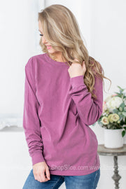 Comfort Colors Monogram Long Sleeve Top | Colors