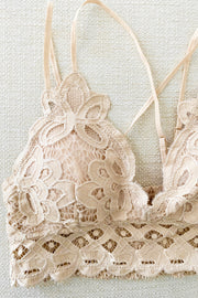 Criss Cross Lace Adjustable Strap Bralette | Colors