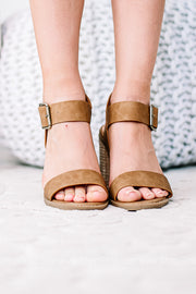 Dance This Way Open Toe Block Heel | Tan
