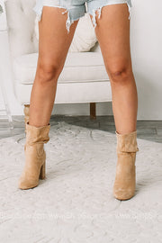 Darby Block Heeled Slouchy Booties | Toffee