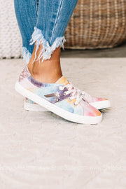 Fruit Canvas Sneakers | Desert Sky Tie Dye