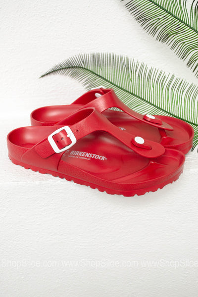Gizeh EVA Birkenstocks | Red - Siloe