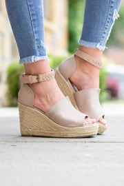 Gloria Espadrille Wedge Heel | Rose Gold