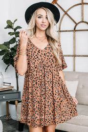 In Your Dreams Cheetah Babydoll Dress