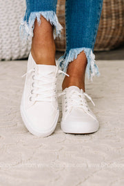 Kory White Smoked Sneakers