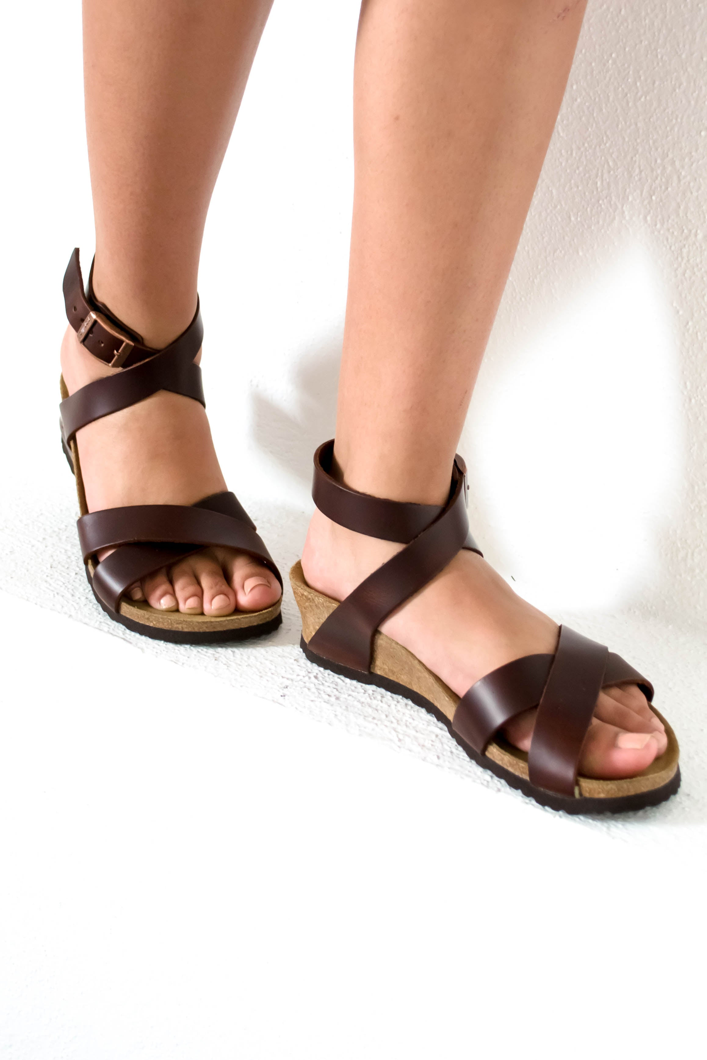 ff84f2f87bc Lola Leather Cognac Wedge