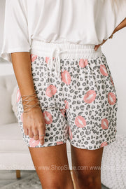 Lots Of Love Soft Knit Drawstring Shorts