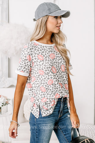 Lots Of Love Soft Knit Short Sleeve Top