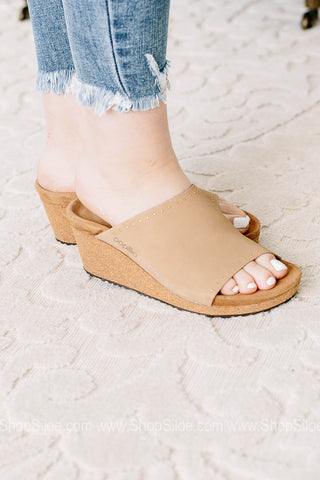 Namica Rivets Nubuck Leather | Sandcastle | Papillio By Birkenstocks