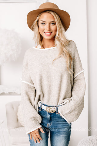 Naturally Neutral Oversized Cropped Sweater