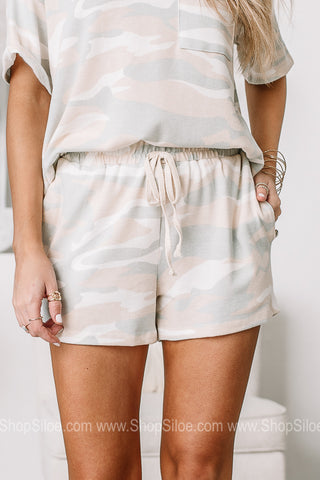 Need Your Attention Camo Elastic Shorts