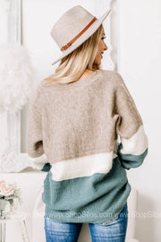 Ok Miss Thang Soft Knit Color Block Sweater