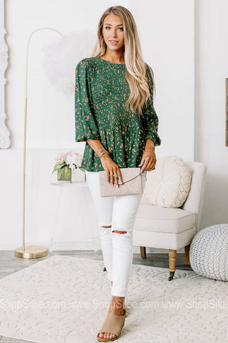 On The Lowdown Floral Smocked Top