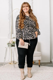 Over The Top Cheetah Print Satin Top | Plus