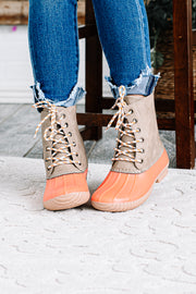 Persimmon Lace Up Duck Boots