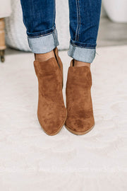 Vella Rust Soft Suede Booties