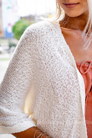Ready For Whatever Sheer Knit Cardigan | White