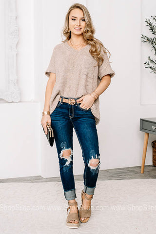 Sheer & Transitional Top | Latte
