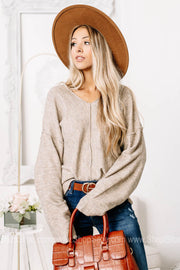 The Way Of The World Soft Knit Sweater Top | Taupe