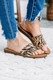 Tiger Print Lizzie Slide Sandals