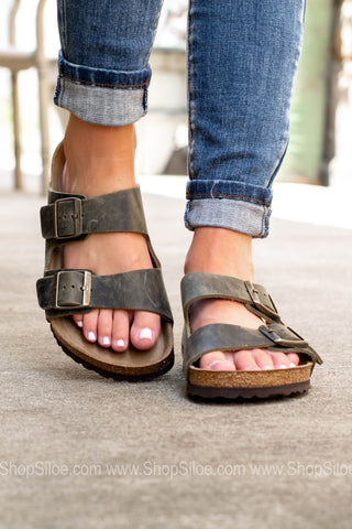 Arizona Oiled Leather Soft Footbed | Jade