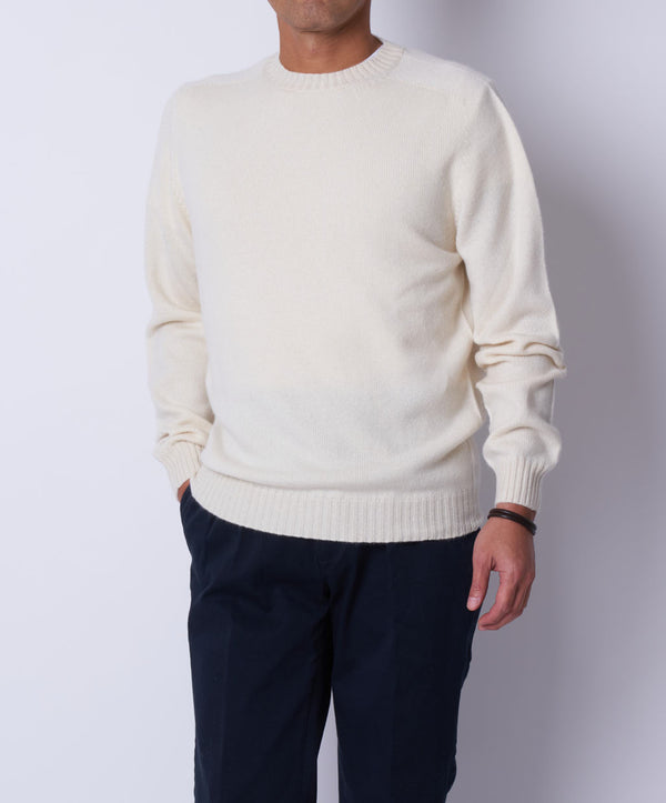 TM-0065 / Cashmere Crew Neck Knit