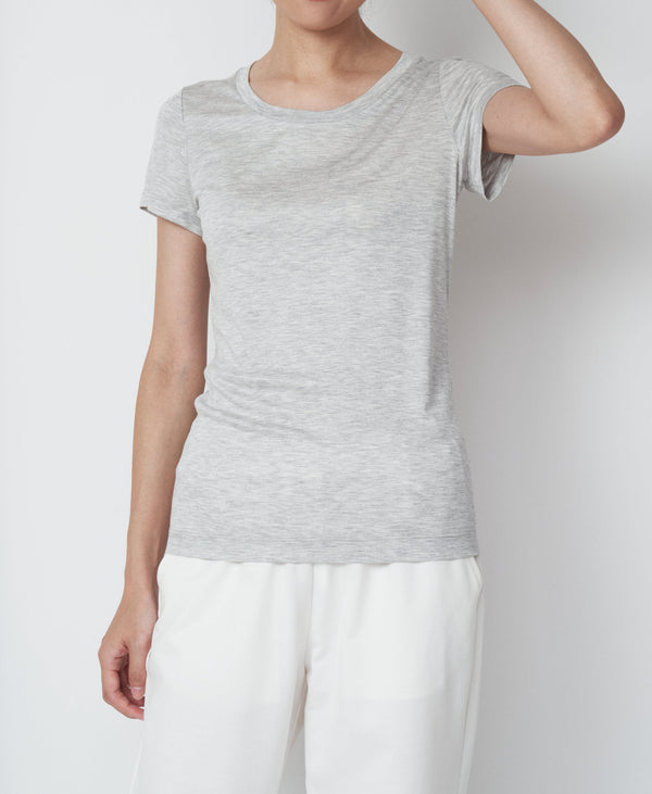 TL-9132 / Viscose Smooth Crew Neck TShirt_1