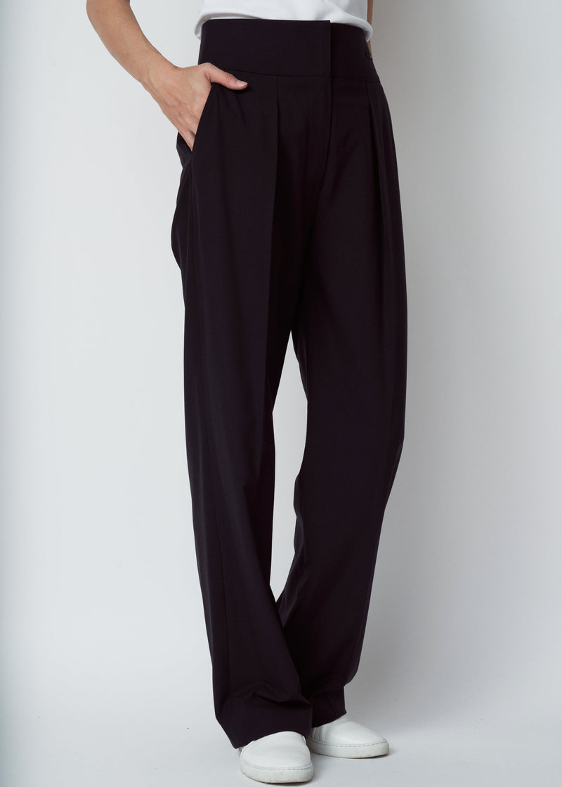 TL-6176 / Stretchcloth Hight Waist Wide Pants
