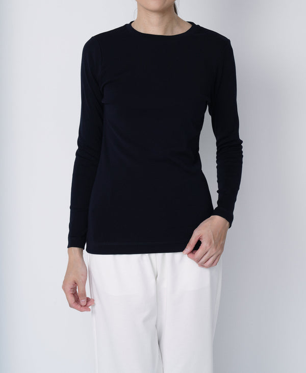 TL-9208 / Tight Milling Small Neck Longsleeve TShirt