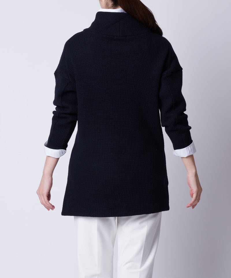 TL-9212 /Wool Waffle High Neck Pullover