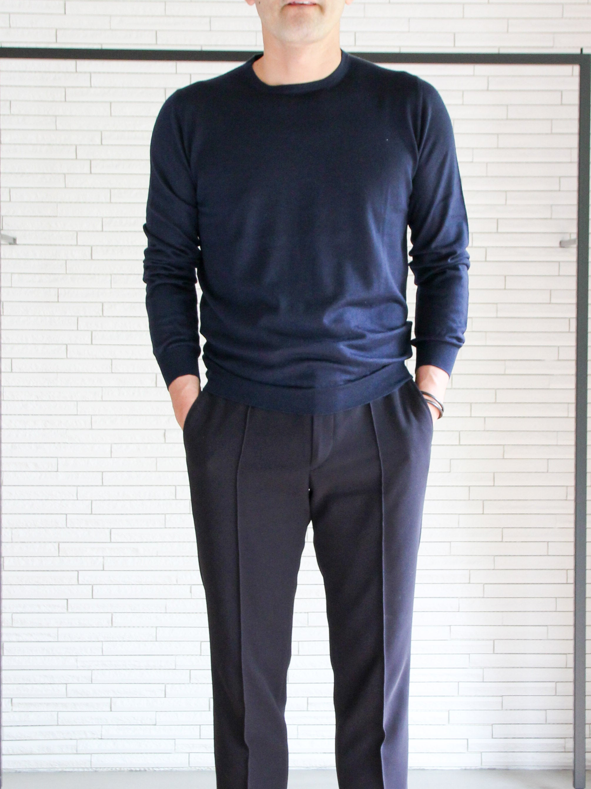 TM-503 / Cashmere Crew Neck Knit